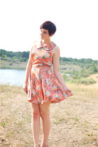 salmon floral Sugarlips dress