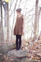mustard dress - black boots