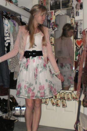 pink Alannah Hill cardigan - white Vintage from We Heart Vintage Perth skirt - w