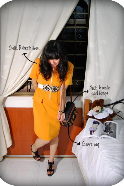Chetta B dress - vintage accessories - vintage accessories