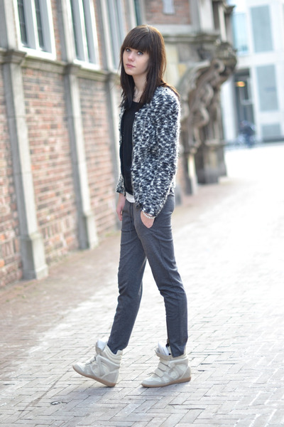 Isabel Marant jacket - basic Nelly top - Nowhere pants - Isabel Marant sneakers