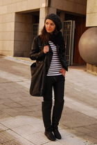 black Lamarca boots - black BLANCO jacket - white Zara t-shirt - black Pull &amp; Be