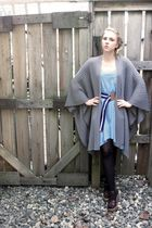 thrifted Kenneth Cole New York cardigan - H&M dress - H&M belt - Payless Shoes s