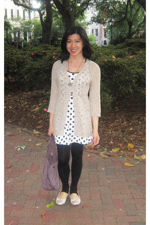 polka dot dress H&M dress - doll shoes Nine West shoes - black H&M tights