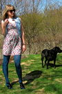 Blue-kensie-dress-black-walmart-tights-beige-modcloth-shoes-black-adidas-a