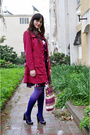 Purple-ebay-stockings-pink-ebay-coat-purple-thrifed-dress-purple-aldo-shoe