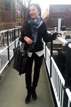 black asos boots - black pattern skinny Dorothy Perkins jeans