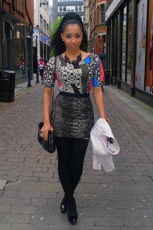 Office shoes - H&M jacket - vintage bag - Debenhams necklace - Primark top