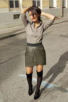 Amisu skirt - Mexx shirt - Aldo boots - socks