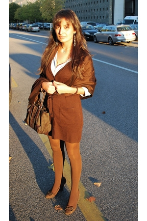 H&M dress - Zara shoes - H&M tights - H&M shirt - Richmond purse - scarf