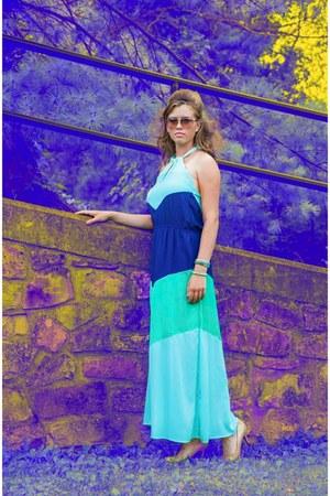 turquoise blue Lucky B Boutique bracelet - blue Lucky B Boutique dress