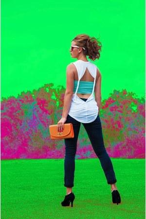 blue Lucky B Boutique jeans - light orange Lucky B Boutique purse