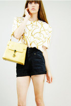 yellow Lucky Rabbit purse - ivory Lucky Rabbit blouse