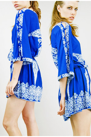 blue Lucky Rabbit dress