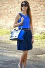 Blue-celine-bag-blue-zara-blouse-navy-h-m-skirt