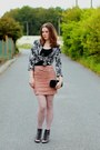 Black-reno-shoes-black-and-white-h-m-blazer-light-pink-with-roses-f-f-tights