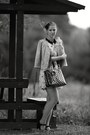 Humanic-shoes-zara-dress-stradivarius-jacket-domi-bag