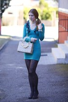 OASAP bag - humanic shoes - Motel Rocks dress - Calzedonia tights