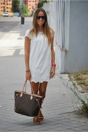 Zara dress - Louis Vuitton bag