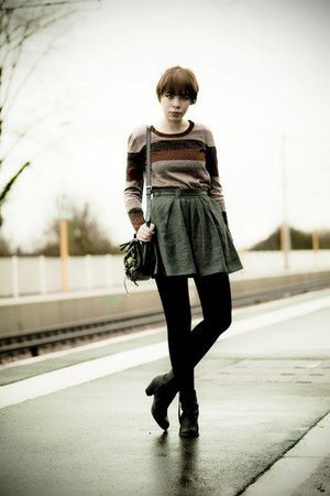 The Kooples skirt - pistol acne boots - Mulberry bag - Marc by Marc Jacobs top
