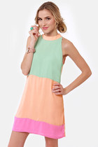 peach LuLus dress