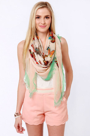 light pink LuLus scarf