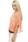 Coral Sheer Lace Crop LuLus Tops Brown LuLus Belts White Bell Bottom LuLus Pans