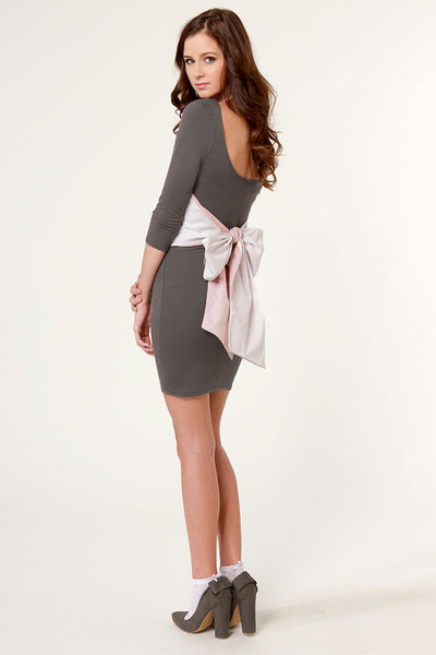 heather gray LuLus dress