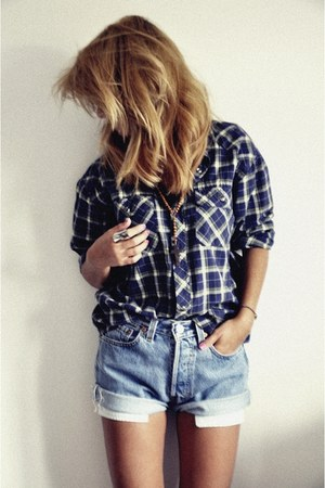 vintage shirt - Levis shorts