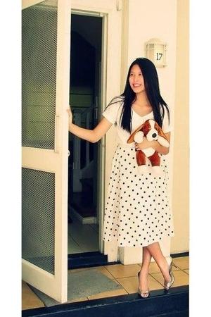 Mango blouse - Thrift Shop skirt - my aunts shoes