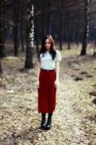 River Island skirt - Oasis shirt - Jeffrey Campbell heels