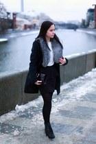 Topshop skirt - Zara skirt - dune boots - Massimo Dutti bag