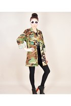 army green vintage jacket - black Jeffrey Campbell boots