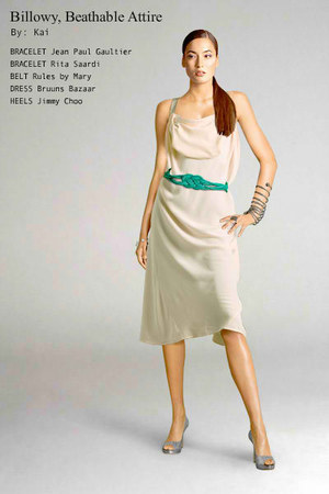 Bruuns Bazaar dress - braided rules by mary belt - smple rita saardi bracelet -