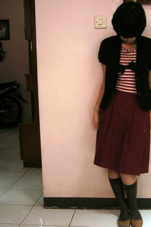 Sisters blazer - Kings Bandung top - elementary uniform skirt - dads socks - Kin