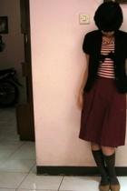 Sisters blazer - Kings Bandung top - elementary uniform skirt - dads socks - Kin