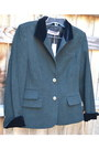 Dark Green Worldly Things Italy Blazers