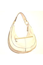 ShoeDazzle Ivory Vegan Tote Hobo Bag Shoulderbag Purse
