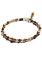 tan layering pearls Budget Luxuries bracelet