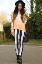 AX Paris leggings - select bag - Rock and Rose necklace - Zara t-shirt
