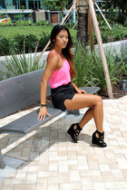 Urban Outfitters shorts - 2b by bebe top - black gold Movado watch