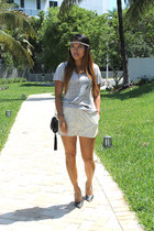 JPK Handbags bag - H&M shorts - Danyel Clothing t-shirt - cap toe Luichiny pumps