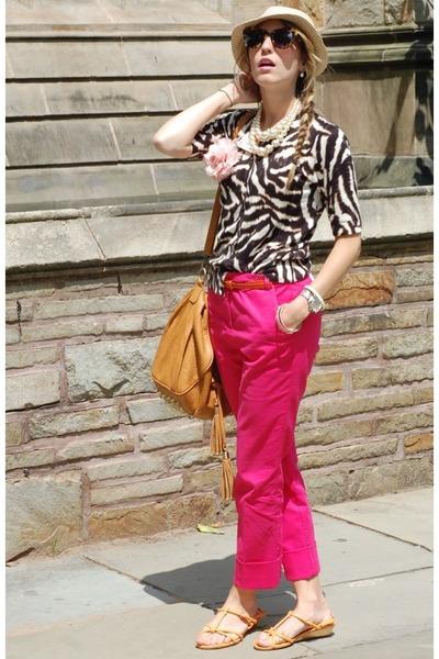 Spotted Moth bag - ann taylor cardigan - Zara pants - vintage necklace