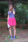 Pink-zara-skirt-blue-zara-shirt-white-banana-republic-purse-blue-steve-mad