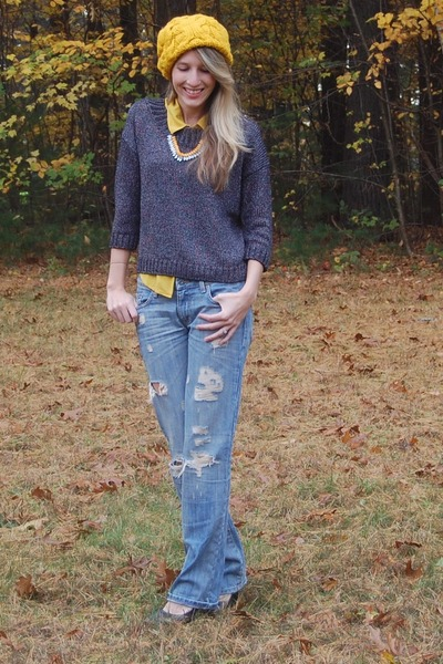 LA Boutique jeans - Forever 21 hat - Gap sweater