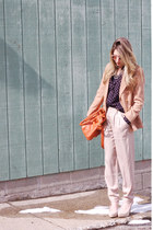 H&M coat - linea pelle bag - asos sunglasses - ann taylor heels