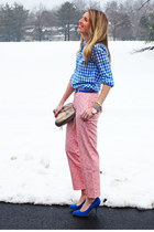 JCrew pants - JCrew shirt - Rebecca Minkoff bag - Zara heels