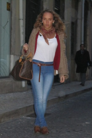 Zara shoes - Zara coat - H&M jeans - Louis Vuitton bag - Zara cardigan - Zara t-