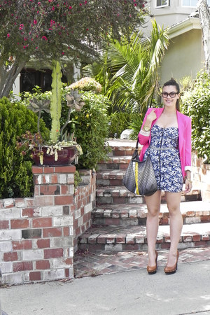 H&M dress - Zara blazer - LAMB bag - Steve Madden heels - Michael Kors watch