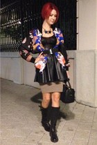 Tom Ford skirt - Tally Weijl skirt - Sisley boots - Zara jacket - Zara bag